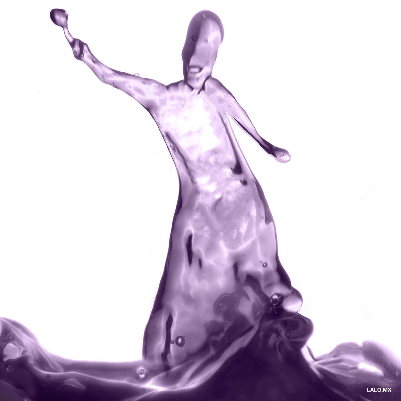 Escultura de agua.